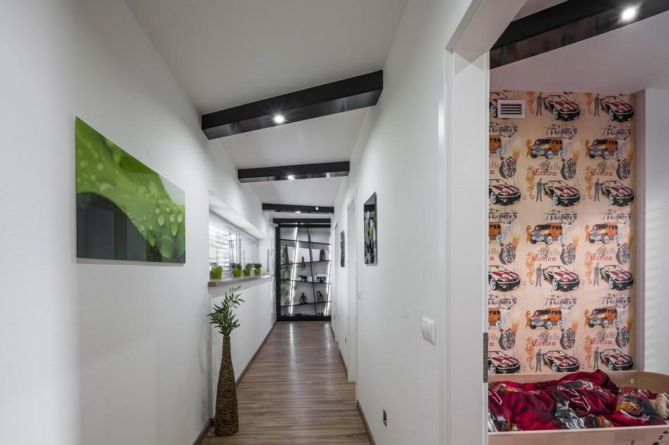 коридор с потолком из гипсокартона фото