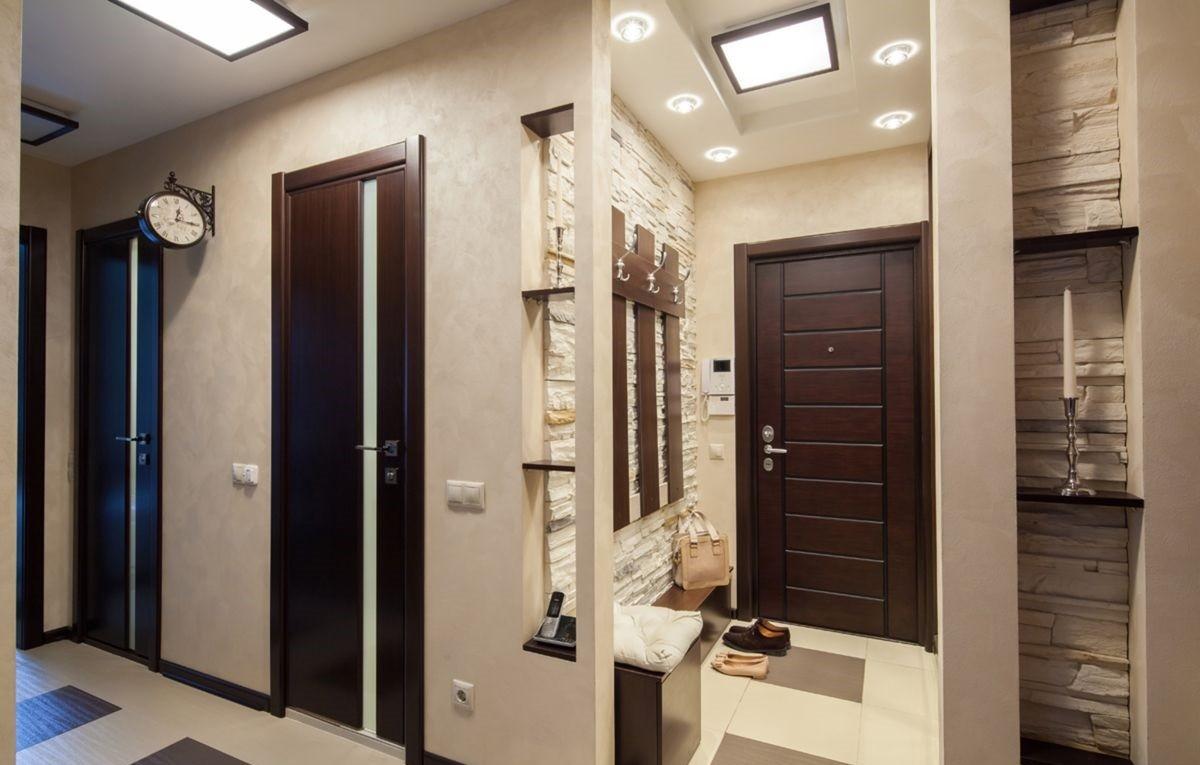 коридор с потолком из гипсокартона идеи дизайна