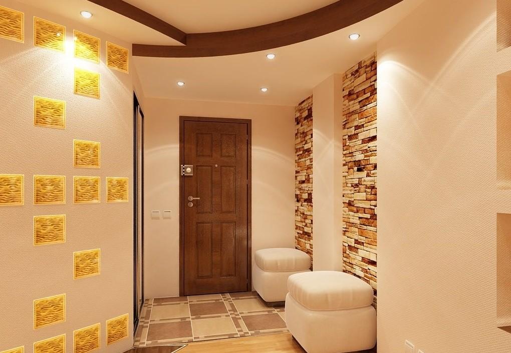 коридор с потолком из гипсокартона идеи