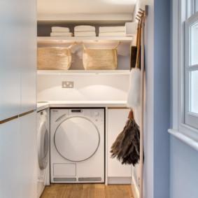 корзина для белья в ванную декор