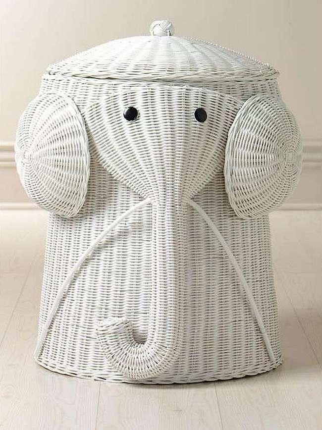 корзина для белья в ванную декор фото