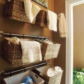 корзина для белья в ванную дизайн