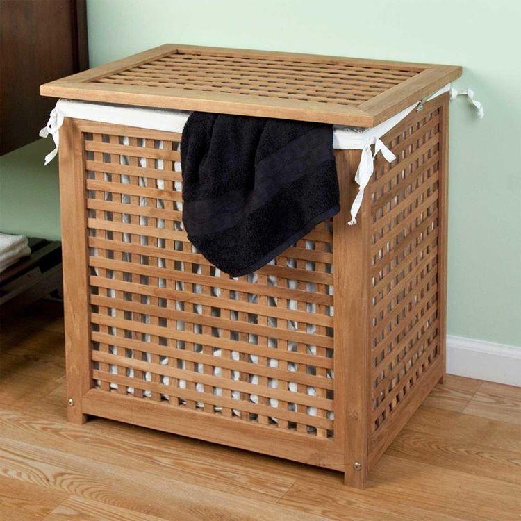 корзина для белья в ванную дизайн идеи