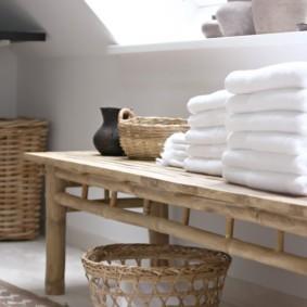 корзина для белья в ванную фото оформление