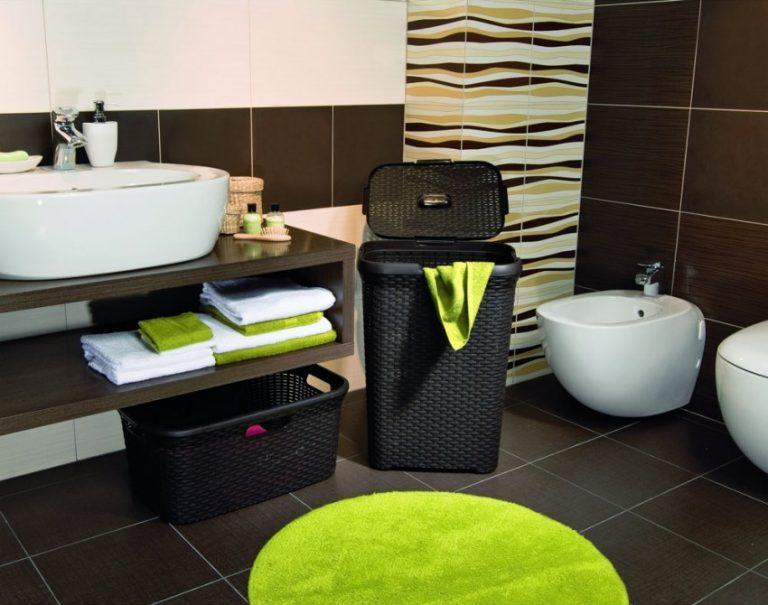 корзина для белья в ванную идеи декора
