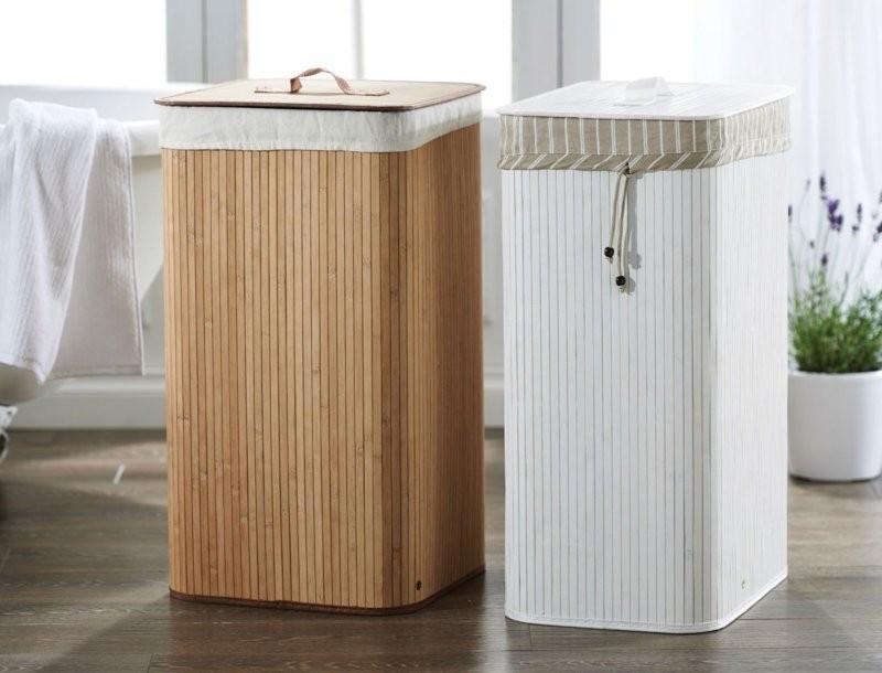 корзина для белья в ванную идеи дизайн