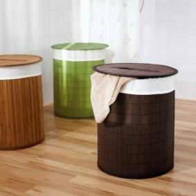 корзина для белья в ванную идеи дизайна