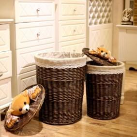 корзина для белья в ванную идеи фото