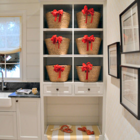 корзина для белья в ванную фото дизайна