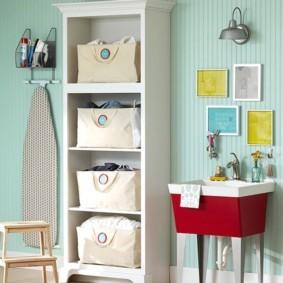 корзина для белья в ванную фото интерьера