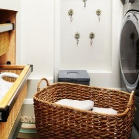 корзина для белья в ванную фото варианты