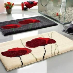 коврики для ванной комнаты фото обзоры