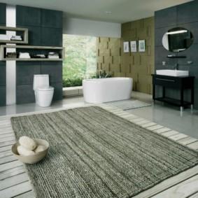 коврики для ванной комнаты фото варианты
