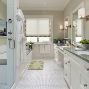 коврики для ванной комнаты идеи интерьера