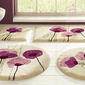 коврики для ванной комнаты идеи оформление