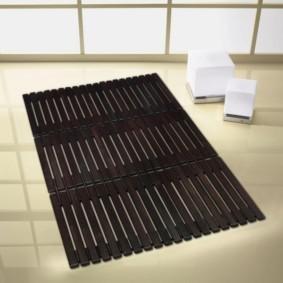 коврики для ванной комнаты интерьер идеи