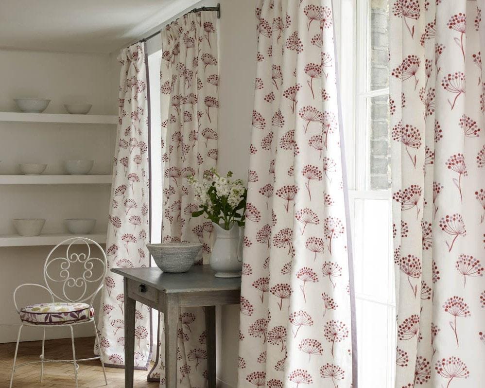 красивые шторы для кухни в стиле прованс