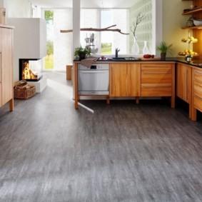 линолеум для кухни серый