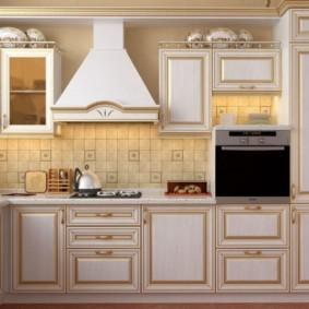 кухня с патиной идеи в интерьере