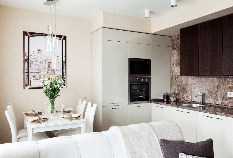 кухня без окон дизайн фото