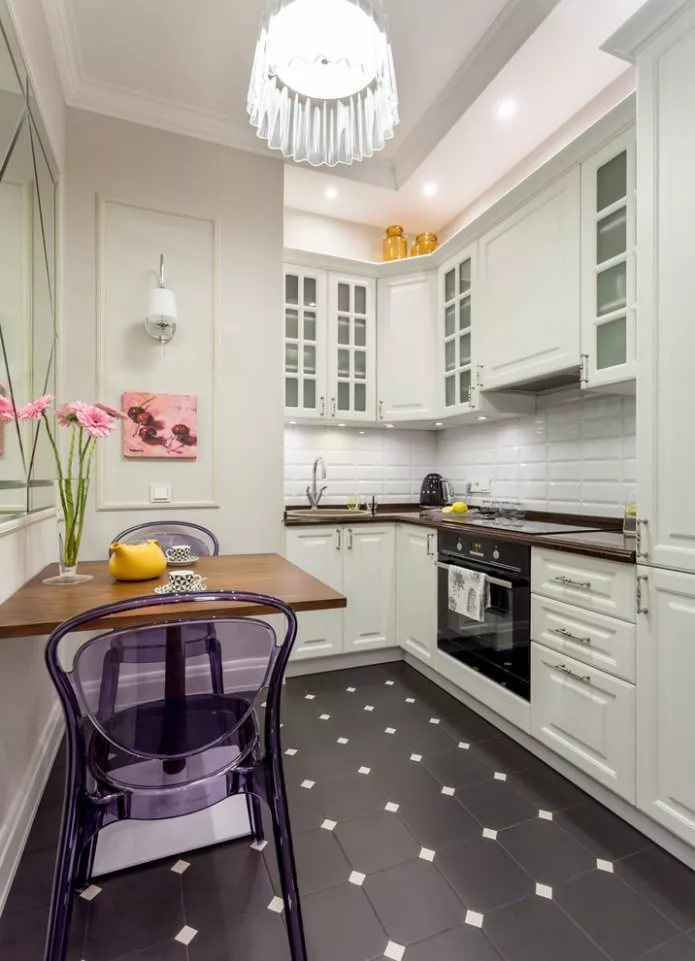 кухня без окон фото декора