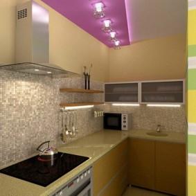 кухня без окон фото идеи