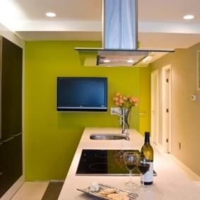 кухня без окон фото интерьер