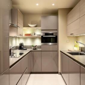 кухня без окон интерьер