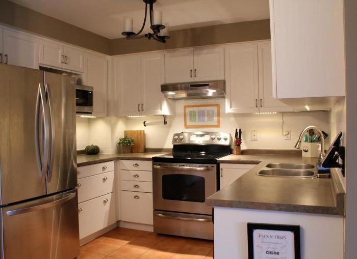 кухня без окон варианты