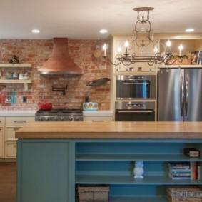 кухня с патиной интерьер