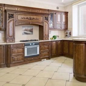 кухня с патиной интерьер фото