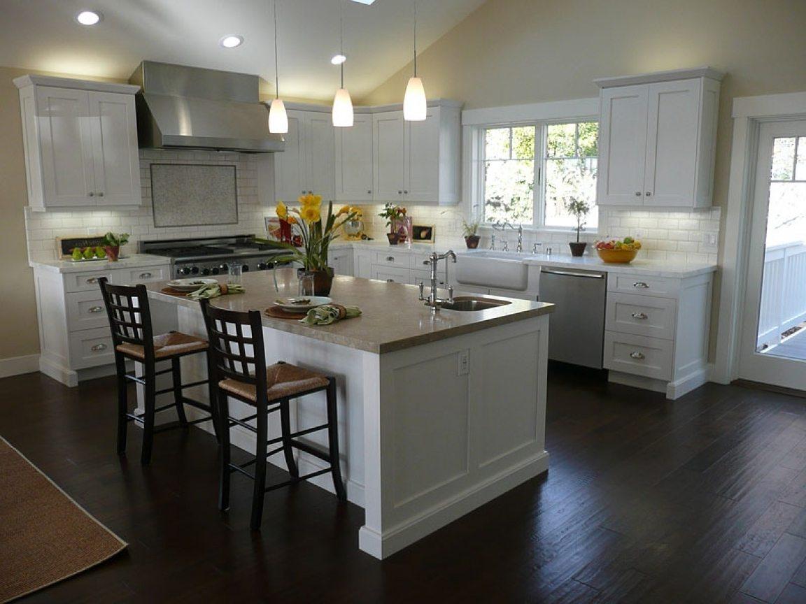 кухня с темным полом фото декора