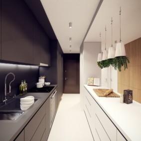 кухня без окон идеи интерьер