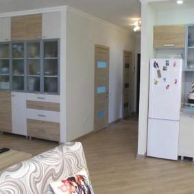 кухня прихожая фото интерьера