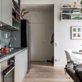 кухня прихожая фото оформления