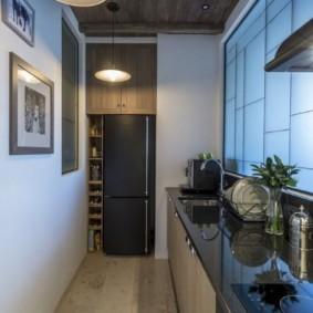 кухня прихожая интерьер