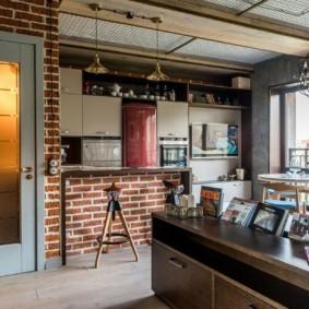 кухня прихожая интерьер фото