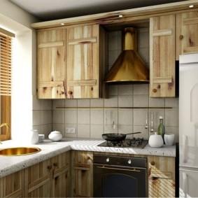 кухня с мойкой у окна фото дизайна