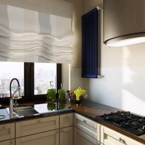 кухня с мойкой у окна фото декор