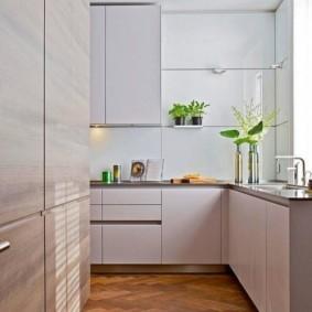 кухня с мойкой у окна виды фото