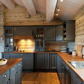 кухня с мойкой у окна фото видов