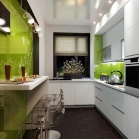 кухня с мойкой у окна виды дизайна