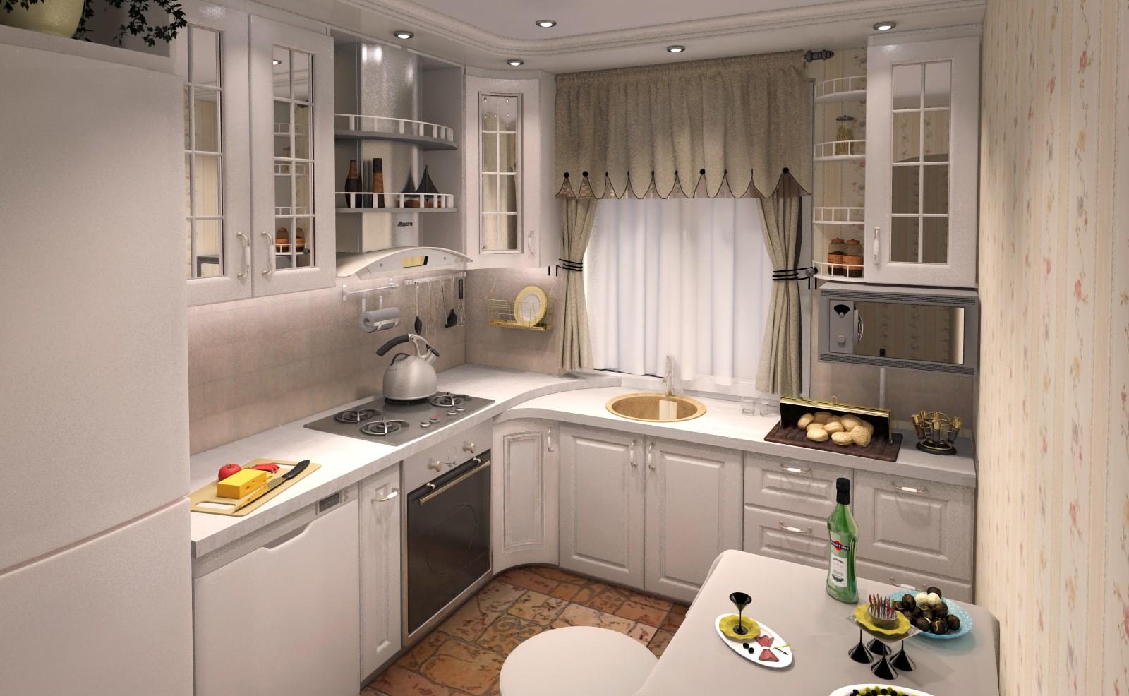 кухня с мойкой у окна фото идеи