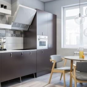 кухня с окном в рабочей зоне фото дизайна