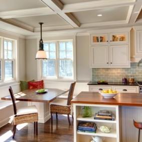 кухня с окном в рабочей зоне идеи дизайна