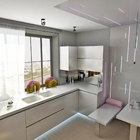кухня с окном в рабочей зоне идеи интерьер