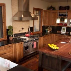 кухня с патиной декор