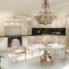 кухня с патиной фото интерьера