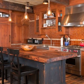 кухня с патиной оформление