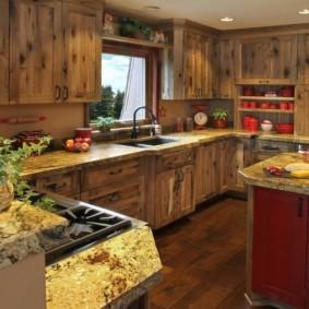кухня с патиной оформление идеи